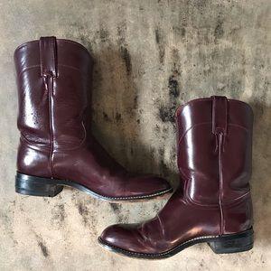 Vintage Oxblood Roper Boots 7.5/8
